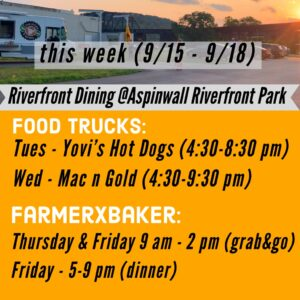 Food trucks at the park from September 15th through September 18th